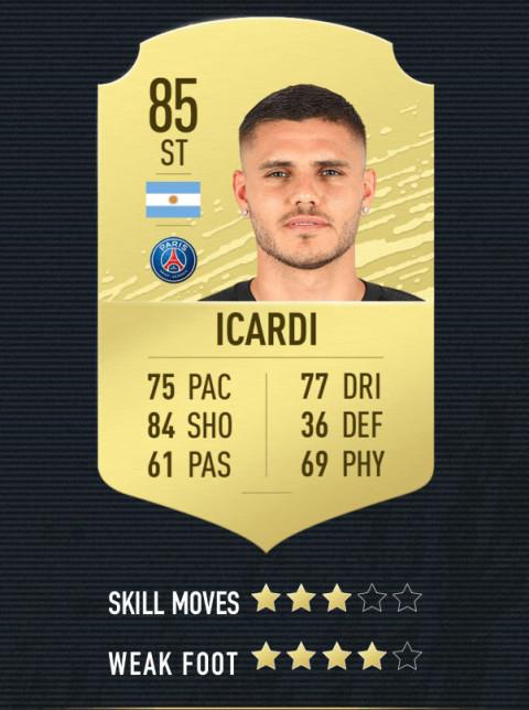 icardi note FIFA 20