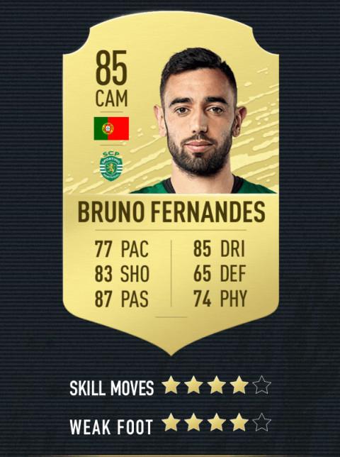 bruno fernandes note FIFA 20