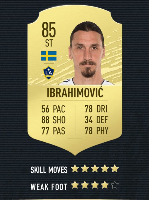 ibrahimovic note FIFA 20