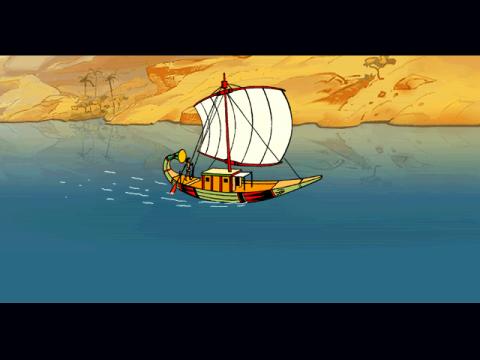 Horus en péril, barque sur le Nil...