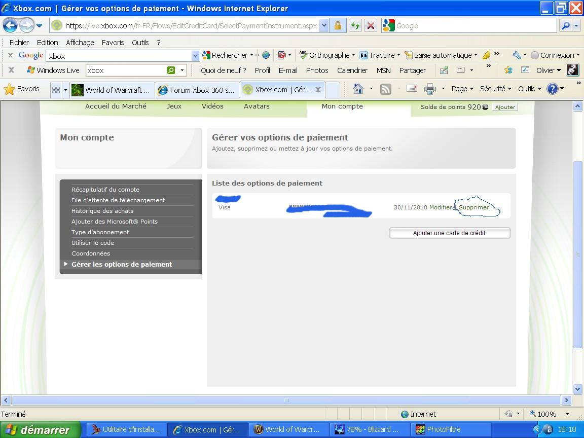 Supprimer Carte Bancaire Xbox 360.Supprimer Coordonnees Bancaires Sur Le Forum Xbox 360 26