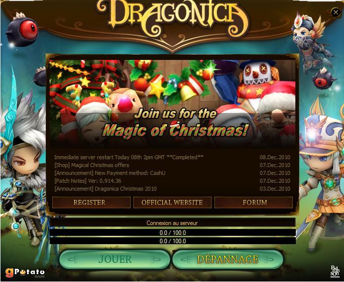 dragonica rapidement