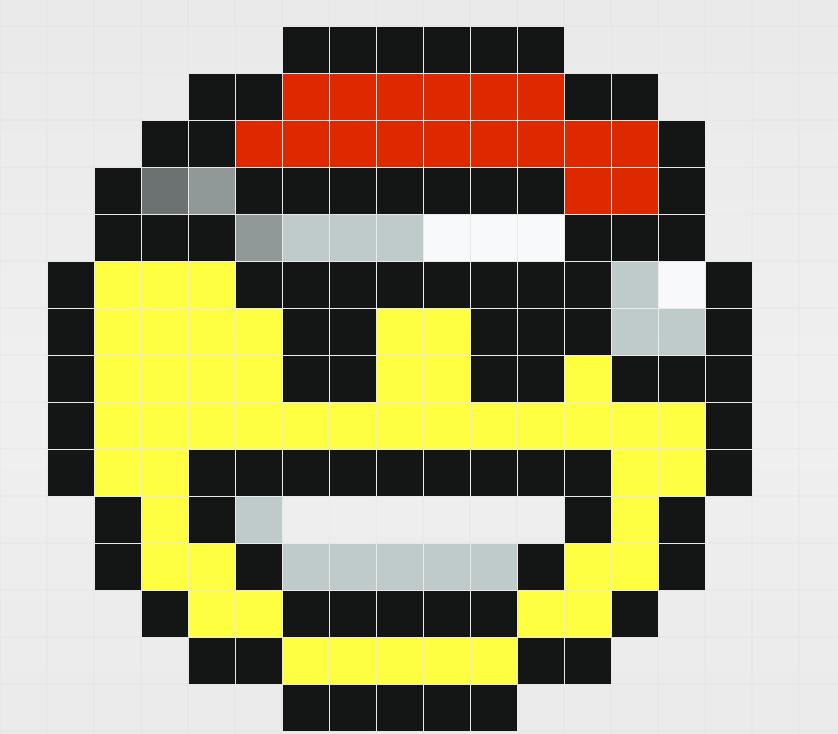 Mod鑞e Pixel Art Smiley