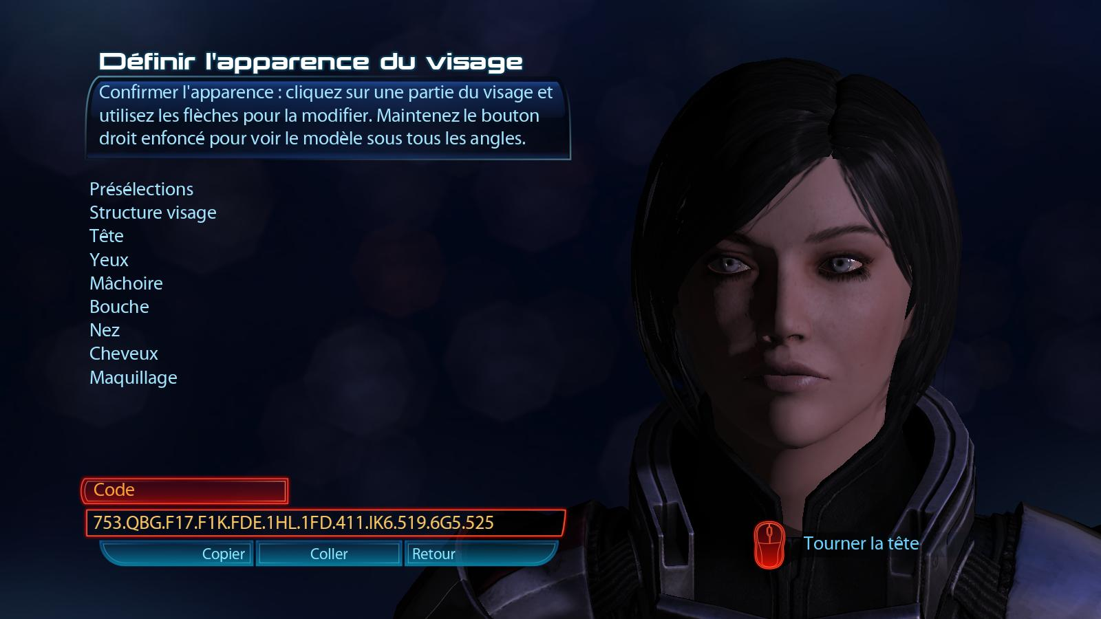 Mass effect 3 face codes for female shepard