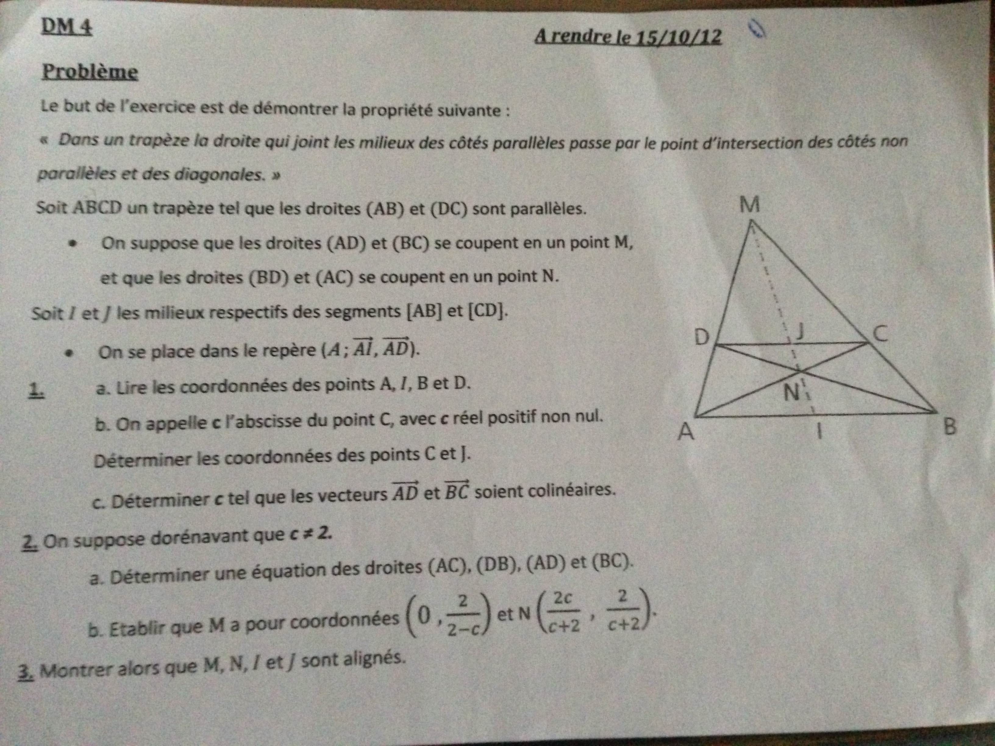 dm maths 1ere s