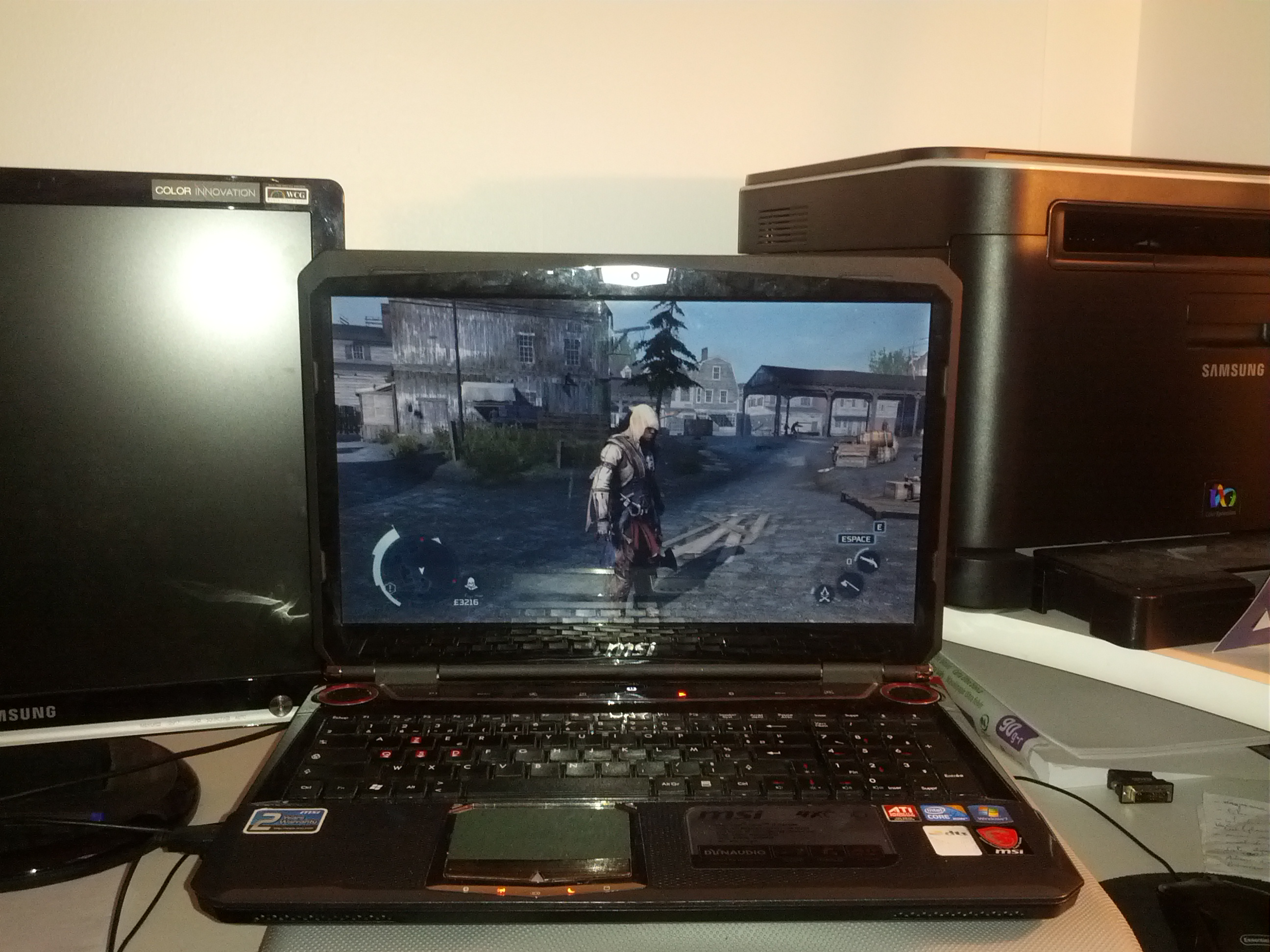 pc portable gamer msi gx660 hd5870 core i7 4go vds pc. Black Bedroom Furniture Sets. Home Design Ideas