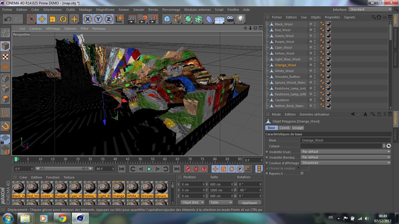 Problème de textures dans Cinema 4D sur le forum Arts Graphiques