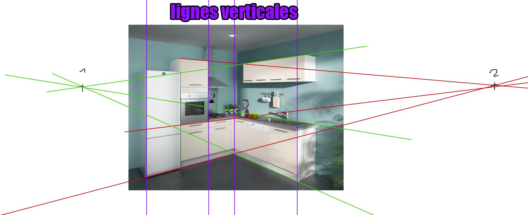 dessiner une cuisine d 39 angle perspective sur le forum arts. Black Bedroom Furniture Sets. Home Design Ideas
