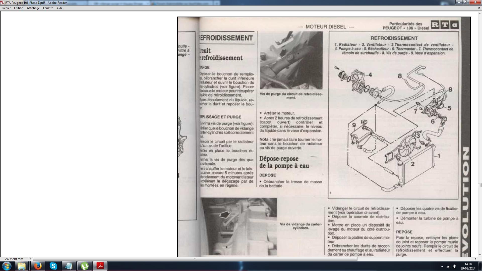 vidange du liquide de refroidissement sur le forum automobiles 19 04 2014 21 56 06. Black Bedroom Furniture Sets. Home Design Ideas