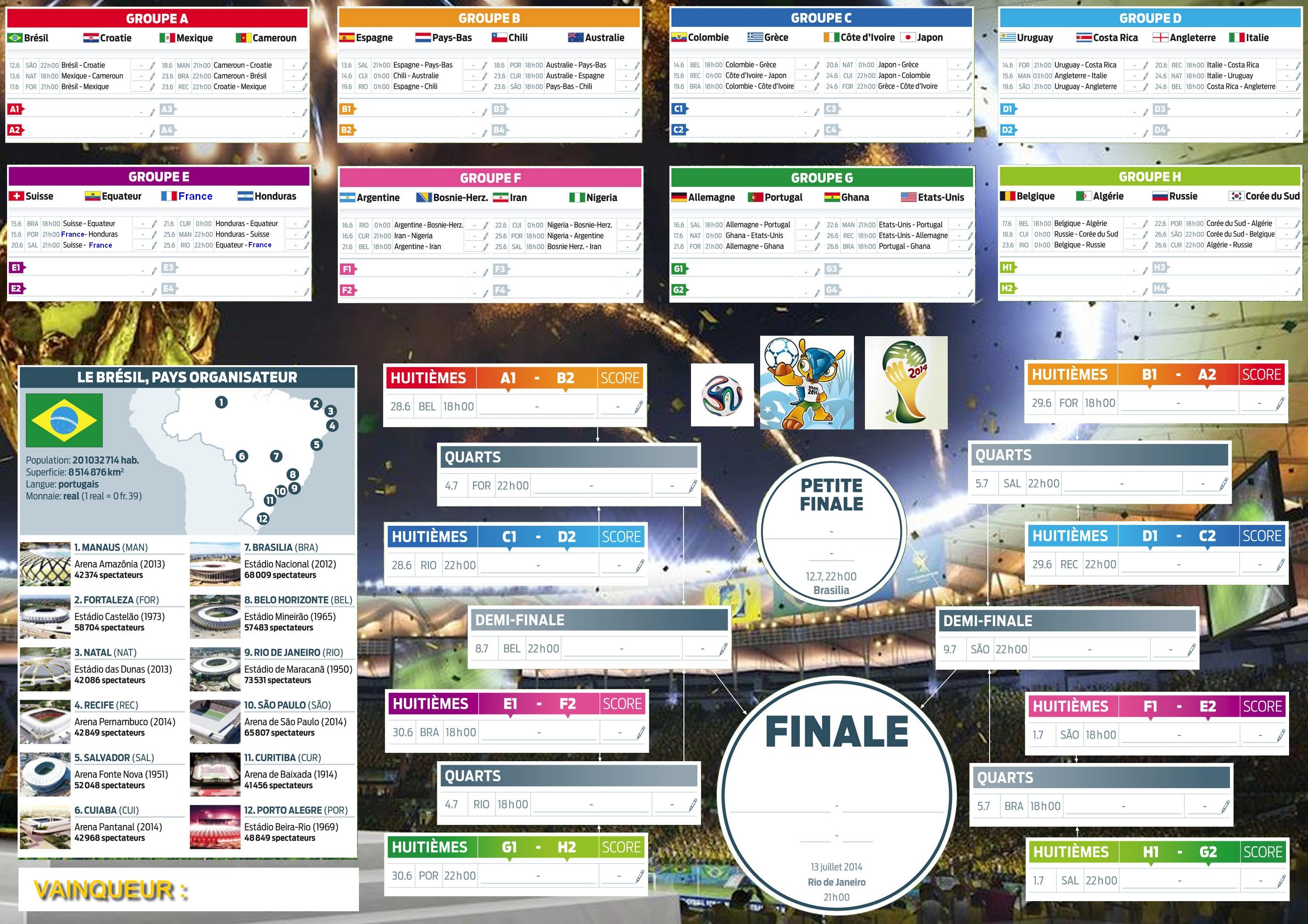 Calendrier Coupe Du Monde A Remplir.Ou Trouver Le Calendrier Cdm A Remplir Sur Le Forum Football