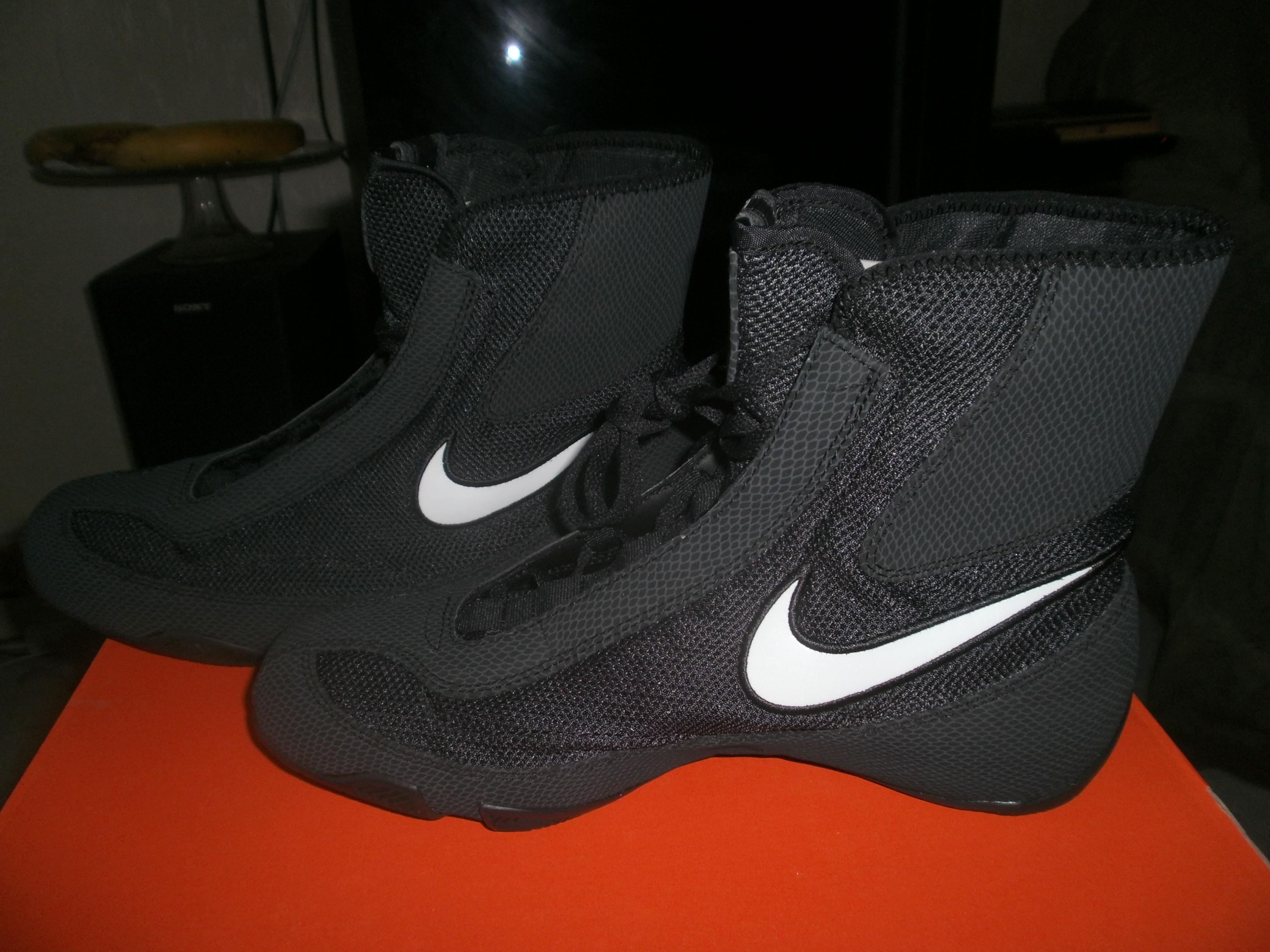 Nike Machomai Boxe Noir Argent Basket Hyperko chaussures Boxe De jqzGUMpSVL