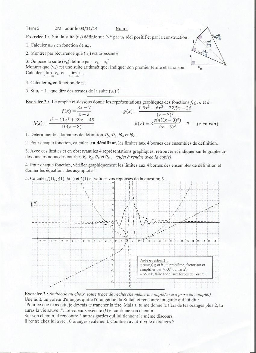 récurrence terminale s exercices
