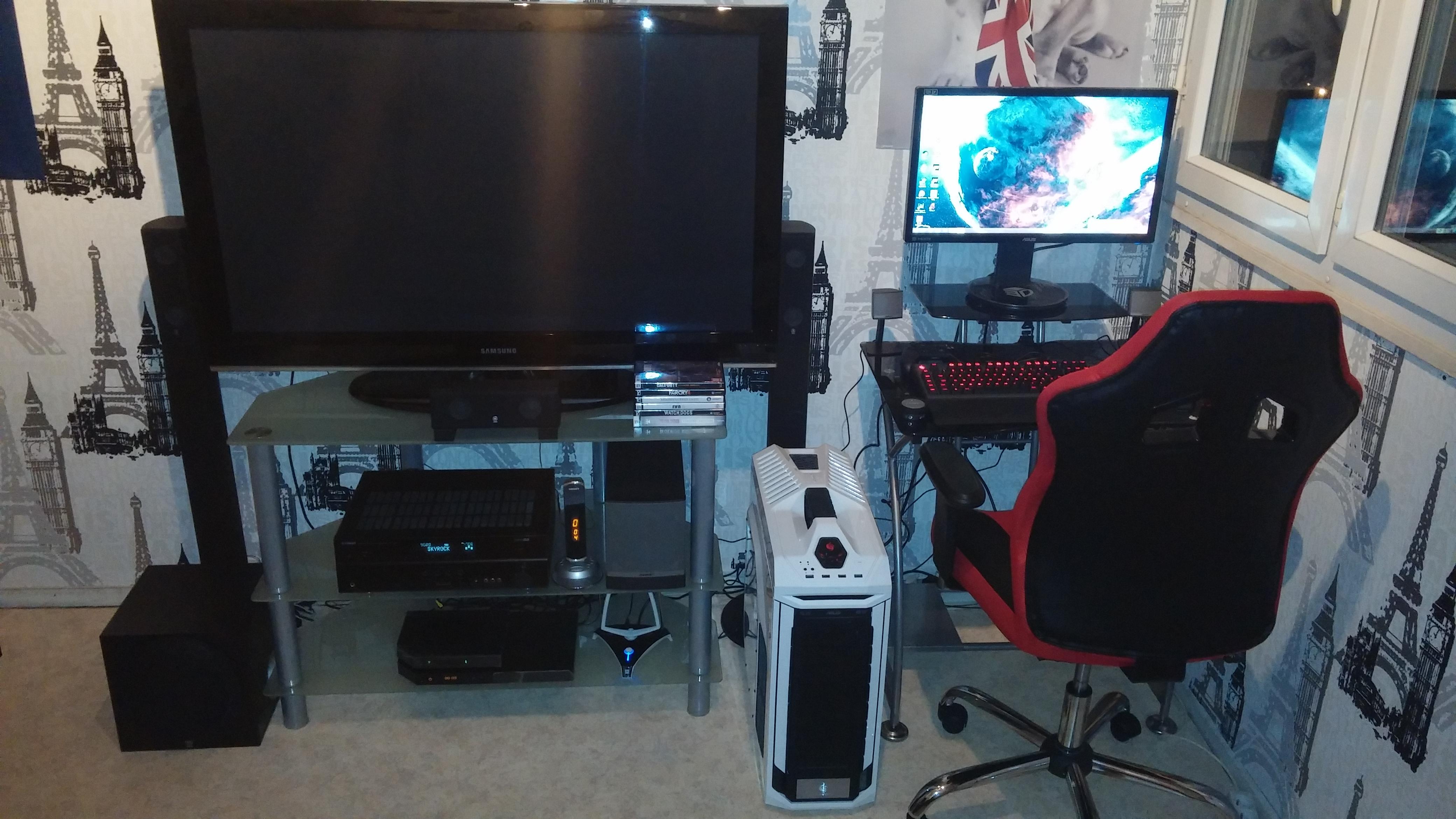 j 39 aimerais changer mon installation gaming besoin de vous s 39 il vous pla t sur le forum. Black Bedroom Furniture Sets. Home Design Ideas