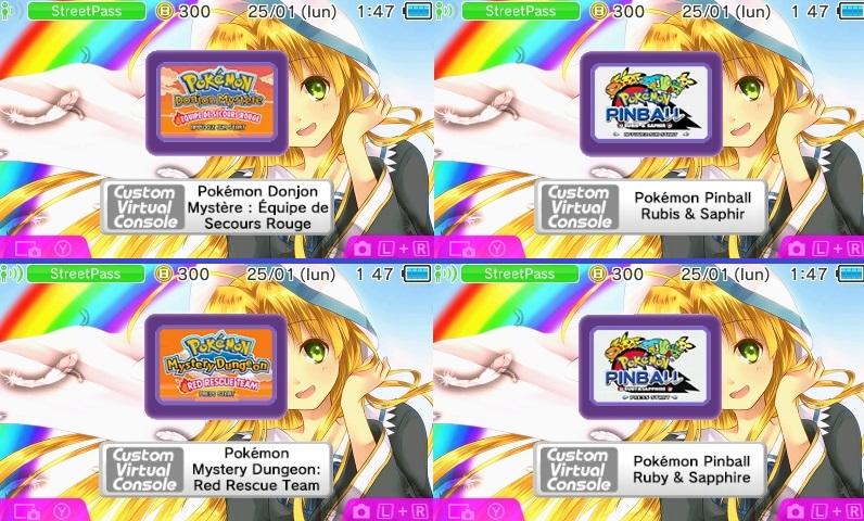 CIA] Pokemon/Zelda sur GB / GBC / GBA en Console Virtuelle