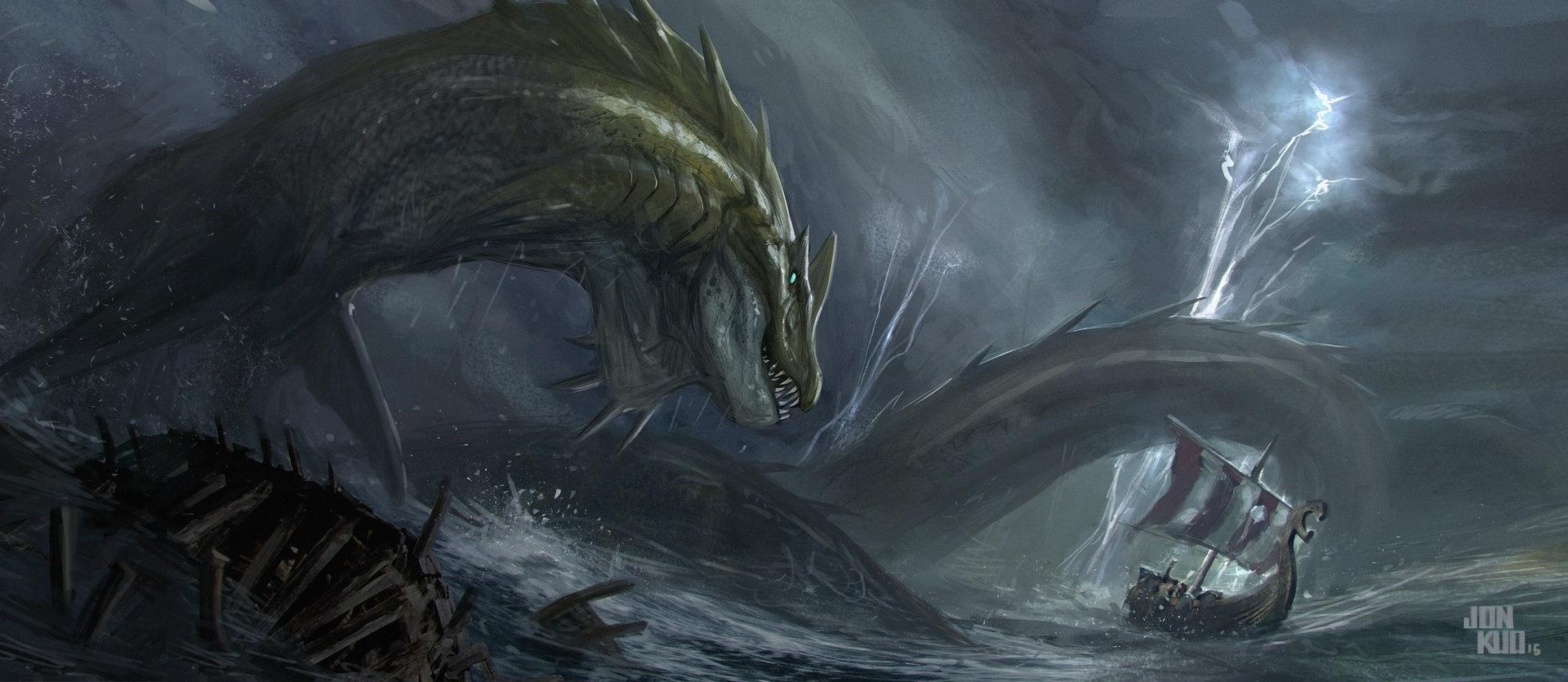 Giant sea monsters art - photo#29