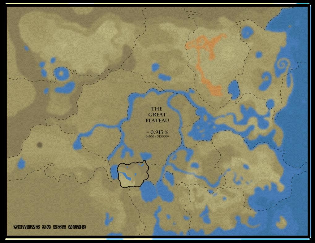 Breath Of The Wild Map Size Comparison Skyrim World Map Atlas
