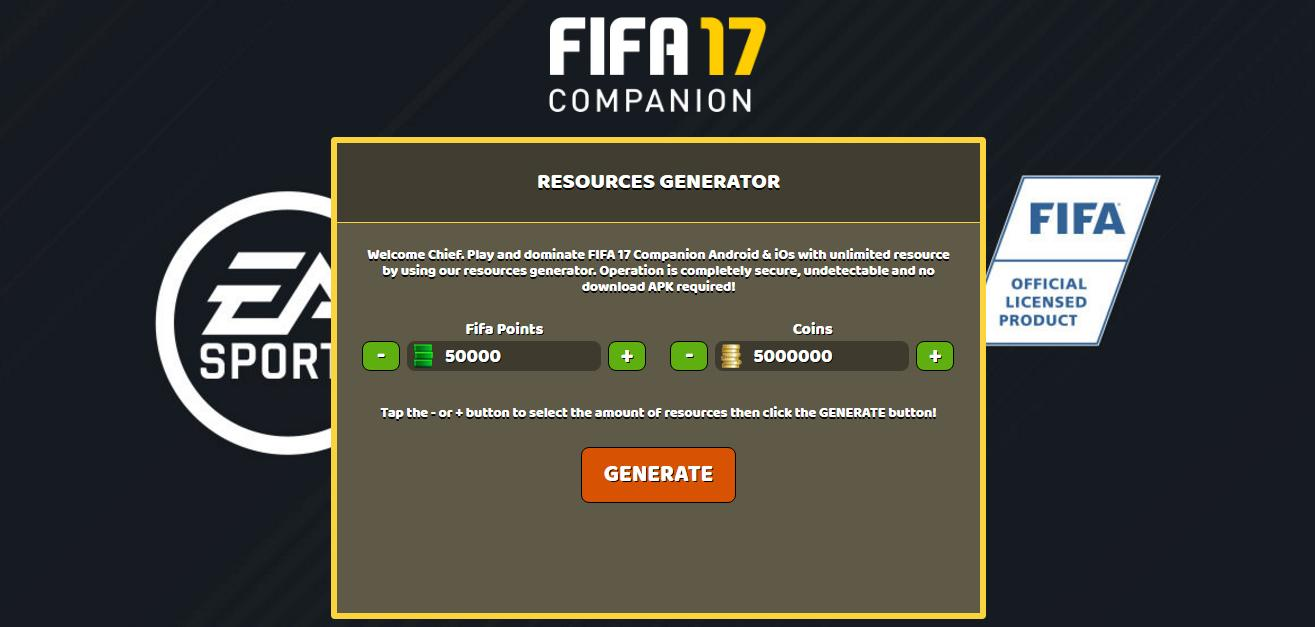 fifa 17 free coins and points hack