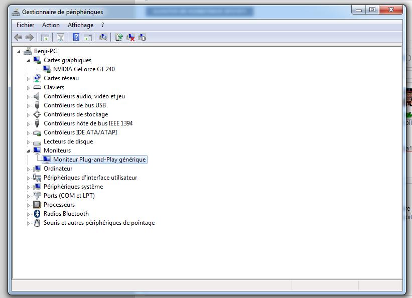 moniteur plug-and-play générique windows 7
