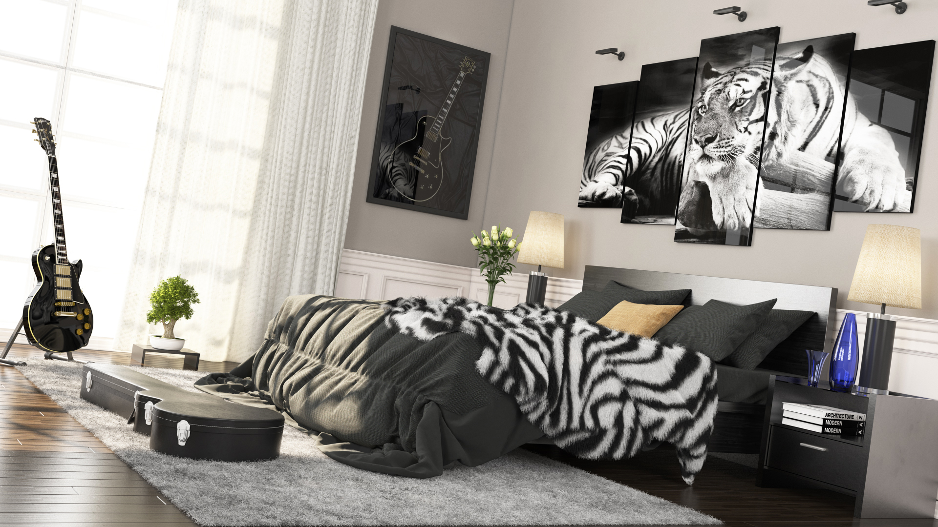 Chambre du tigre blanc  Work In Progress  FORUM 3DVF