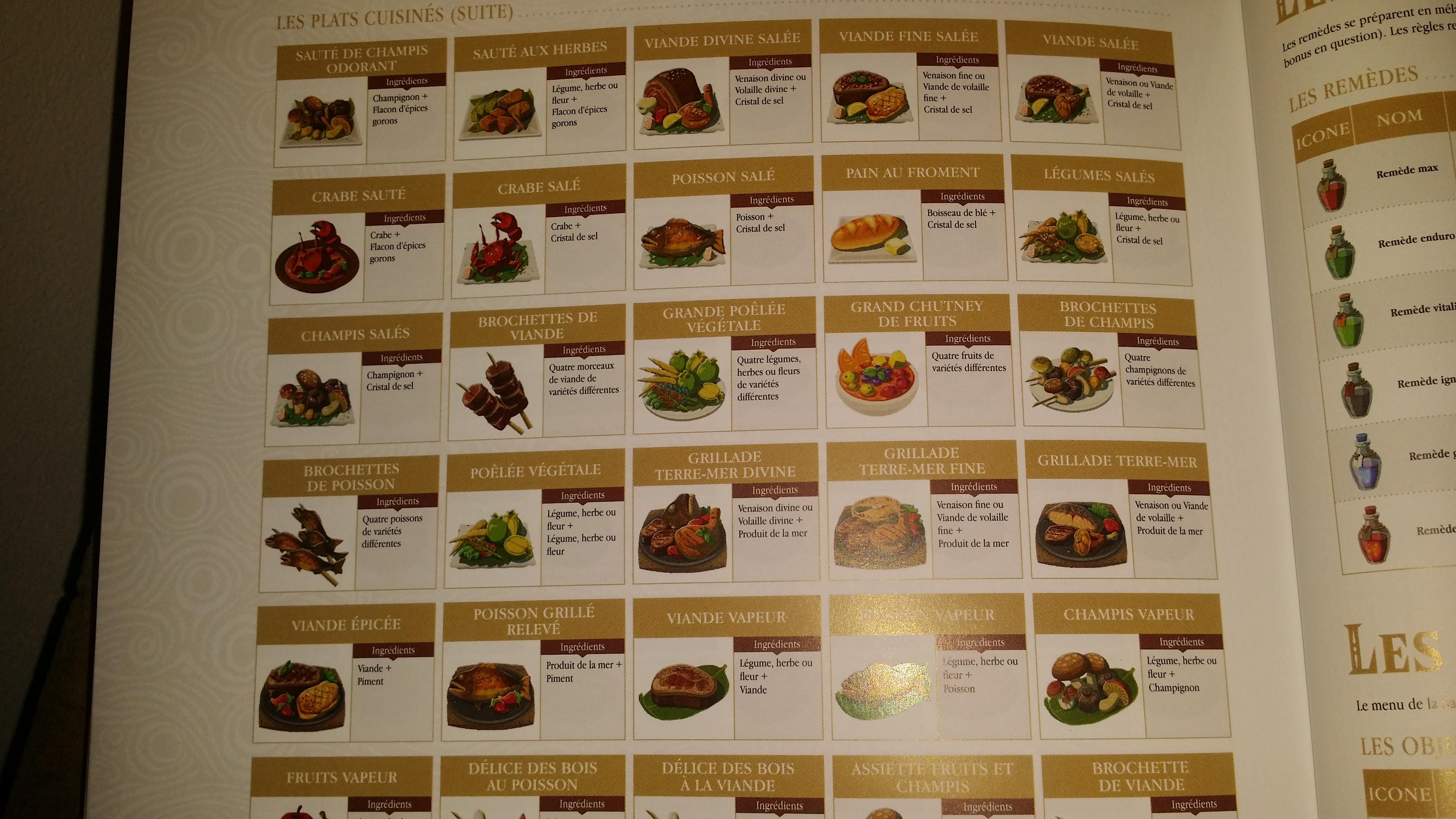 Recettes de cuisine spoil sur le forum the legend of for Cuisine zelda