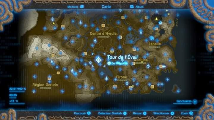 carte des sanctuaires zelda breath of the wild Screen carte des sanctuaires ici! sur le forum The Legend of Zelda