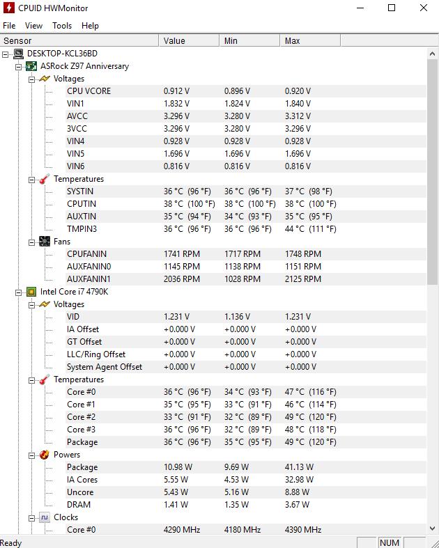 Baisser vcore i7 4790k sur le forum Matériel Informatique