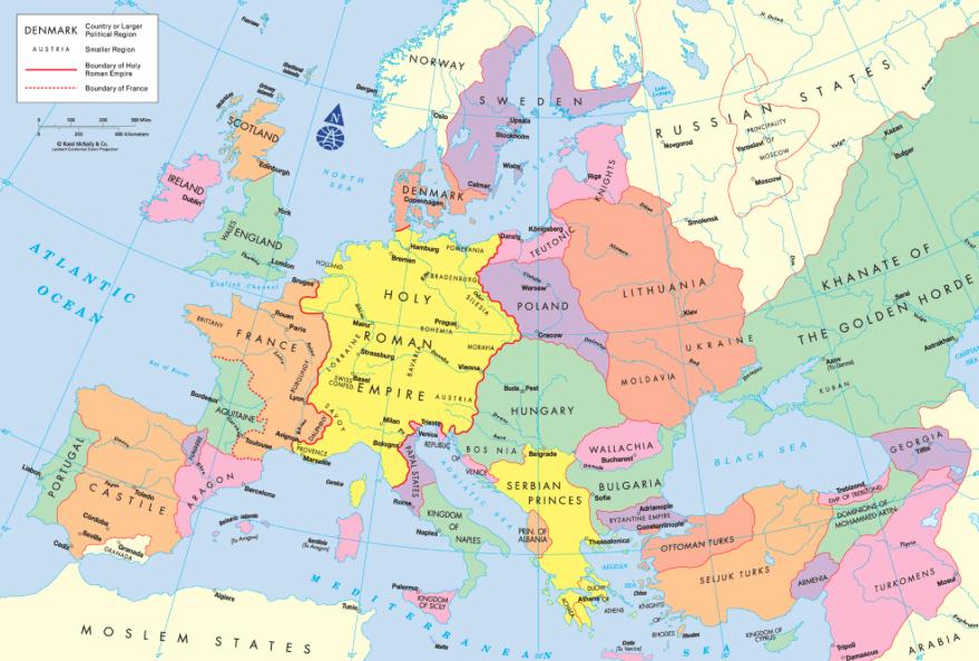 carte europe 45 pays