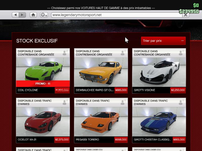 GTA online voiture pas cher sur le forum Blabla 18-25 ans