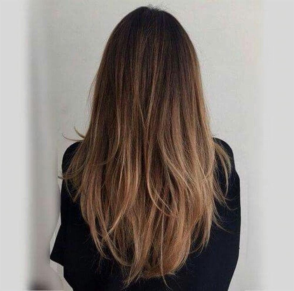 Coupe cheveux degrade effile mi long