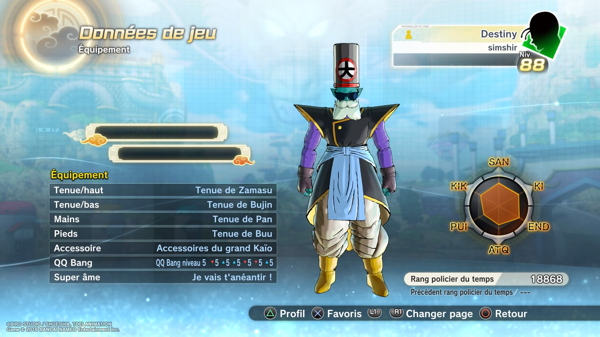 Tenue De Zamasu Dispo Sur Le Forum Dragon Ball Xenoverse 2 09 03