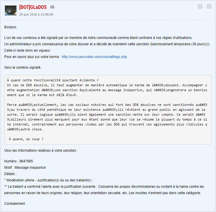 83a31742a819 DDB abusive   gain de karma automatique + MP de gladoss sur le forum ...