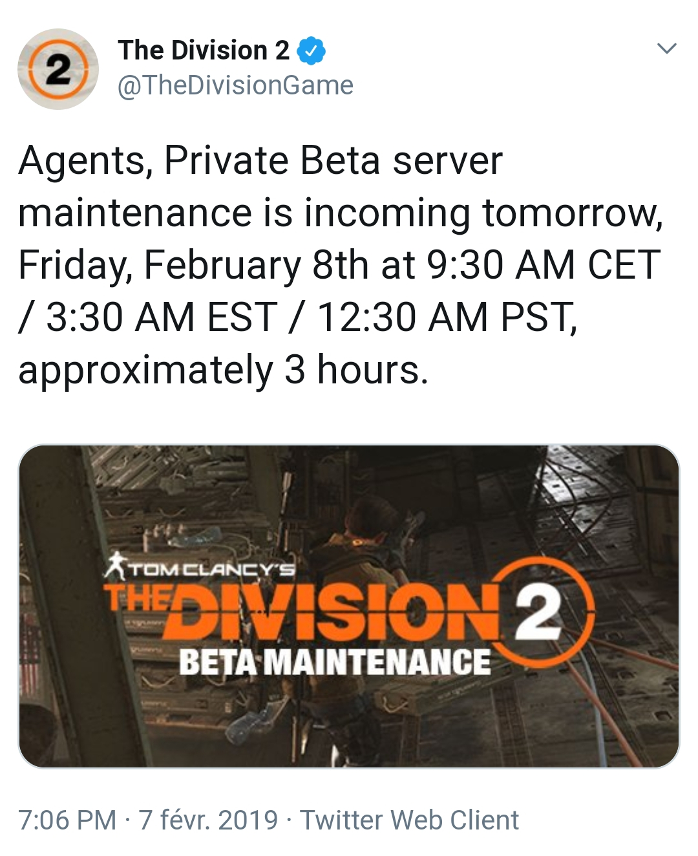 Maintenance Beta] De 9h30 à 12h30 sur le forum Tom Clancy's