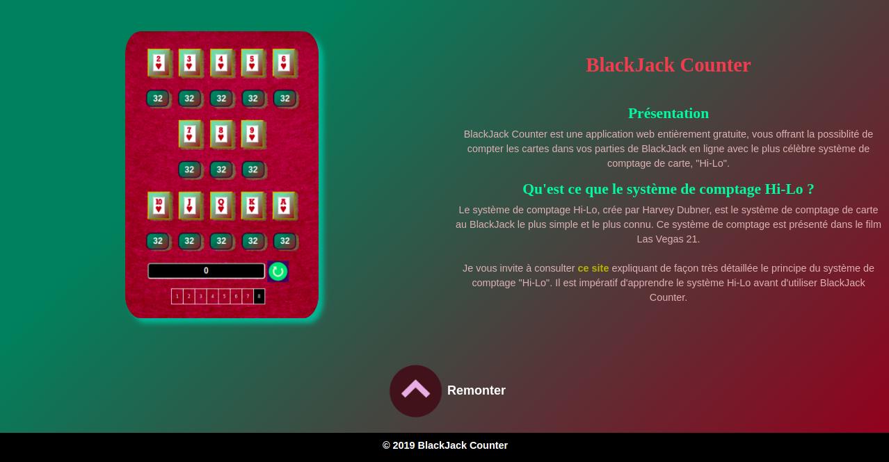 Compter Carte Blackjack.J Ai Developpe Une Application Pour Compter Les Cartes Au