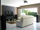 panneau bois derri re tv. Black Bedroom Furniture Sets. Home Design Ideas